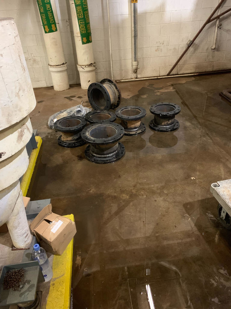 Another view of replacing 12 inch gate valves with butterfly valves for increased reliability